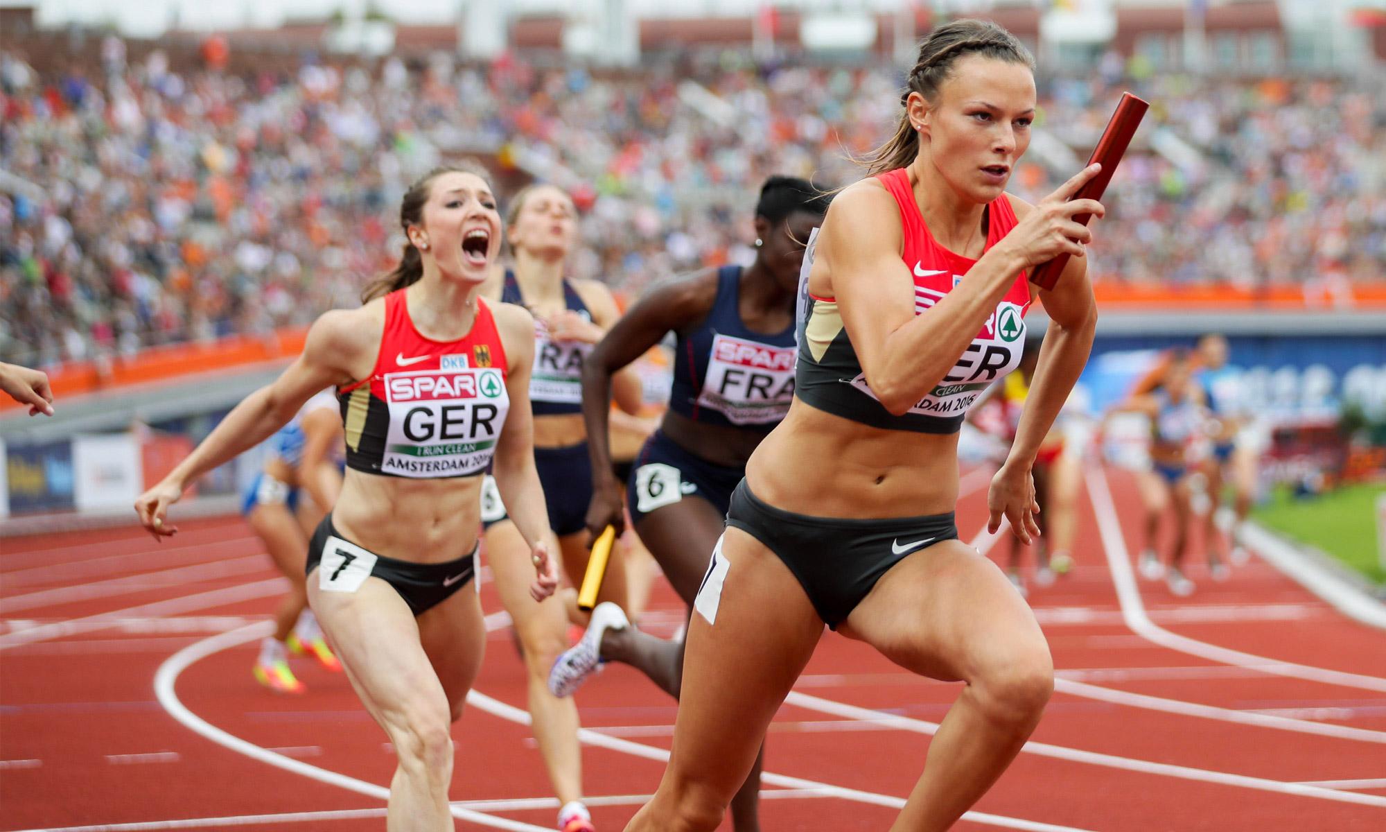 400m estafette vrouwen (9 juli)