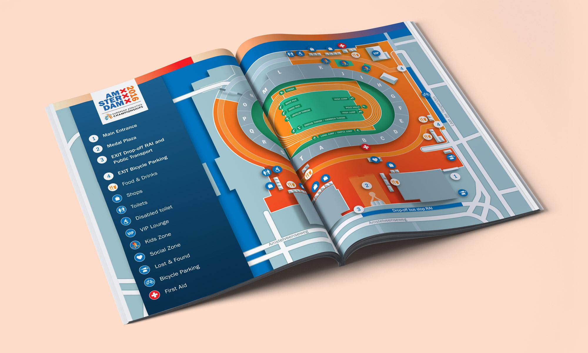 Plattegrond Olympisch Stadion